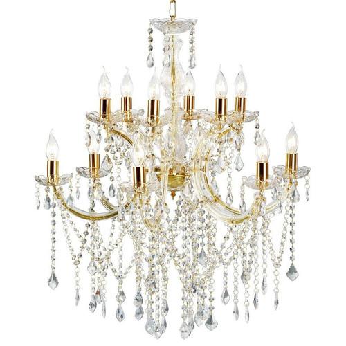 Allison 12 Light Gold Crystal Chandelier