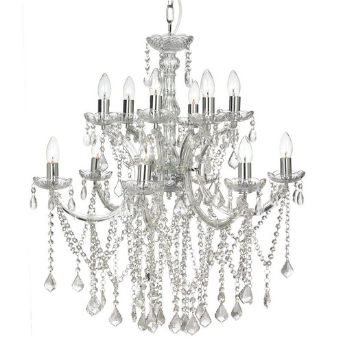 Allison 12 Light Chrome Crystal Chandelier