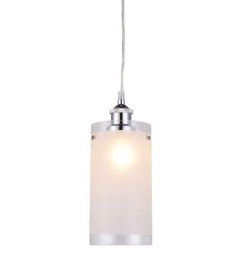 Amira Cylinder Clear Edge Glass Pendant Light