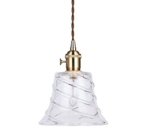 Adelle Cone Gold Vintage Glass Pendant Light