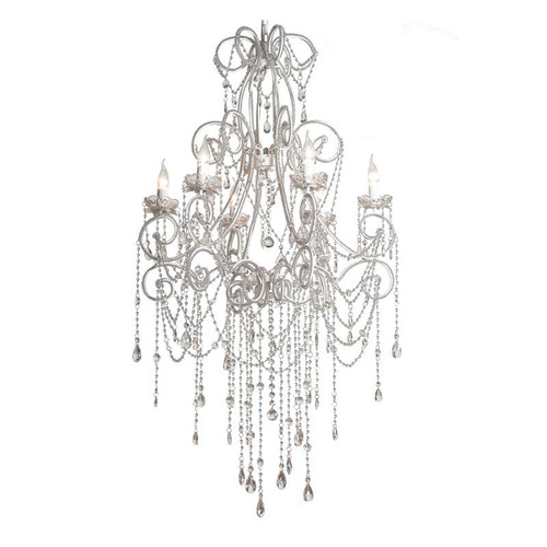 Catalina 6 Light French Crystal Chandelier