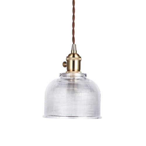 Emma Bell Gold Vintage Glass Pendant Light