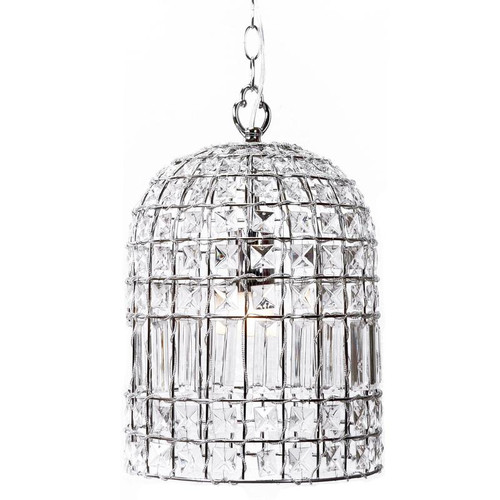 Wendy Bell Chrome Crystal Pendant Chandelier