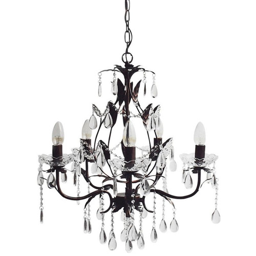Candice 5 Light  Black/Copper Pendant Chandelier