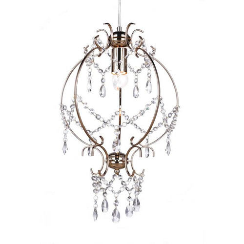 Elizabeth Gold Glass Pendant Chandelier