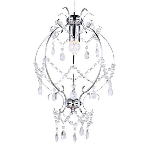 Elizabeth Chrome Glass Crystal Pendant Chandelier