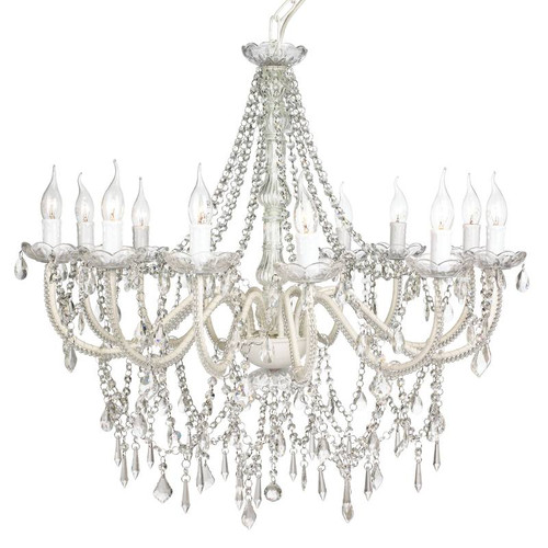 Cadence 12 Light French Provicial Clear Accrylic Crystal Chandelier