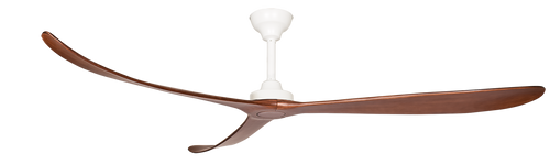 "Kirra 100"" 254cm Matt White and Walnut Ceiling Fan"