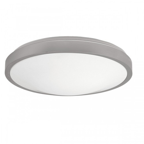 Round Silver Trim Acrylic LED Close To Ceiling Light - Large
