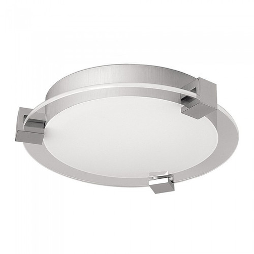 Chrome Frosted Glass Contemporary LED Close To Ceiling Light
