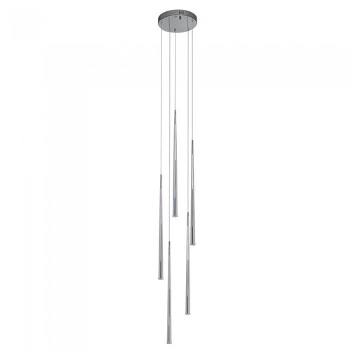 Contemporary Chrome LED Cluster Pendant Light