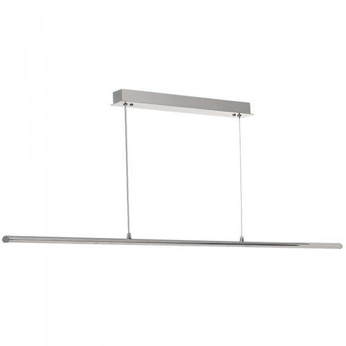 Slim Strip Silver Suspended LED Linear Pendant Light