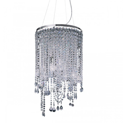 Contemporary Cascade 5 Light Crystal Chandelier
