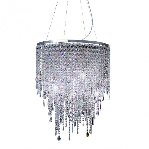 Contemporary Cascade 9 Light Crystal Chandelier