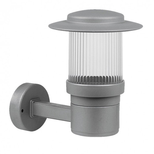 Chicago Silver Outdoor Wall Light