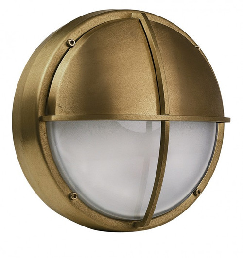 Docks Eyelid Brass LED Bulkhead Outdoor Wall Light
