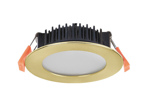 Low Profile 10W LED Dimmable Recessed Downlight - Gold