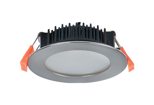 Low Profile 10W LED Dimmable Recessed Downlight - Chrome