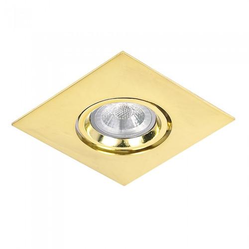 MR16 LED Square Tiltable Recessed Downlight - Gold