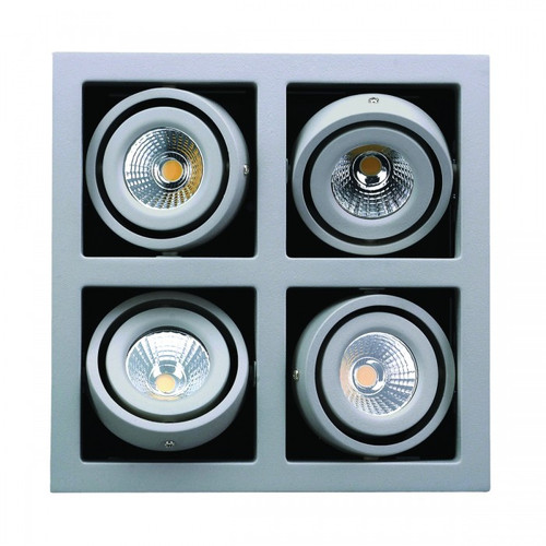 4 Frame Gimbal LED Recessed Downlight - Silver