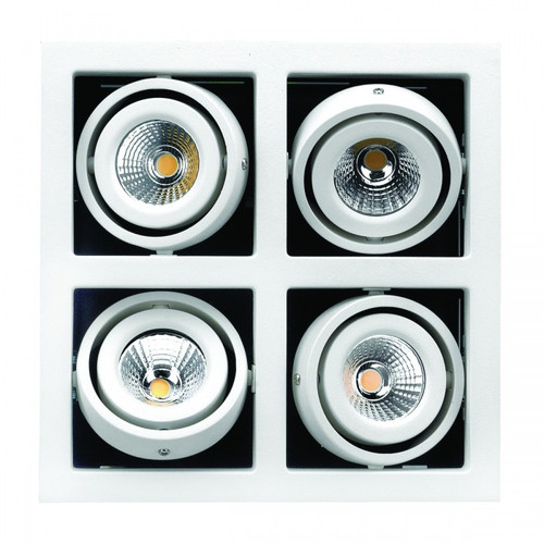 4 Frame Gimbal LED Recessed Downlight - White