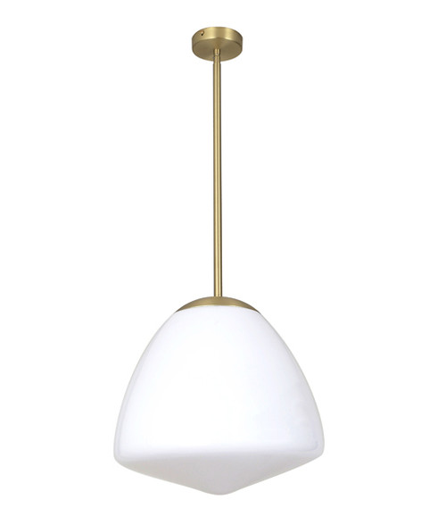 Berclav Brass Frosted Glass Pendant Light