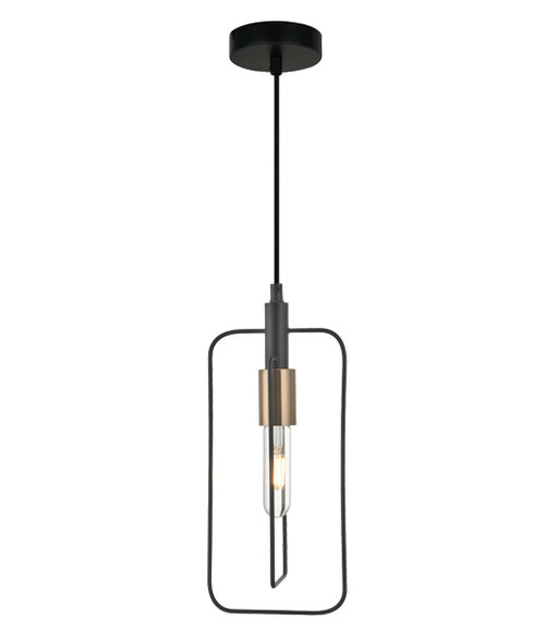 Karvina Rectangle Black Wire Industrial Pendant Light