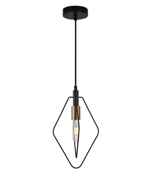 Karvina Diamond Black Wire Industrial Pendant Light