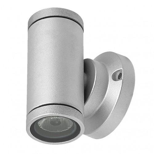 Up/Down LED Mini Tube Wall Light - Silver