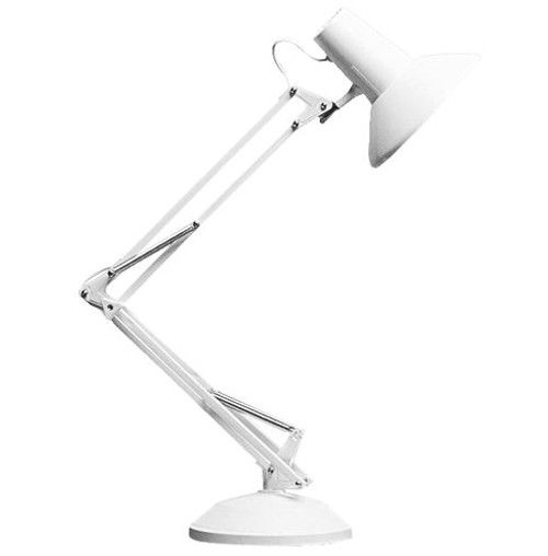 Equipoise White Adjustable Task Lamp - Medium