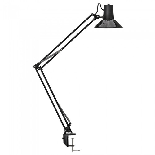 Equipoise Black Adjustable Clamp Task Lamp