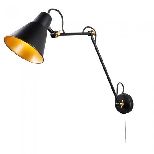 Flux Black Adjustable Wall Light