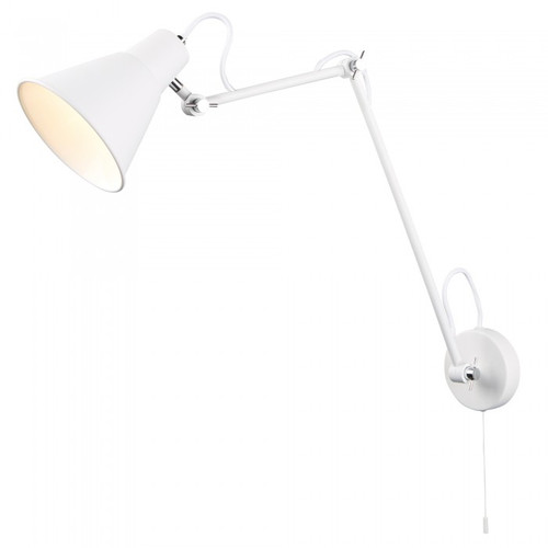 Flux White Adjustable Wall Light