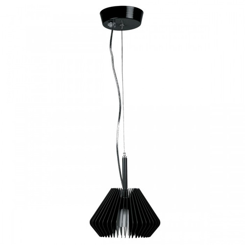 Segmento Black Contemporary Pendant Light