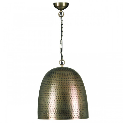 Adra Hammered Bell Bronze Metal Pendant Light