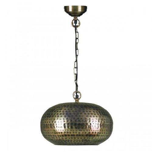 Adra Orb Bronze Moroccan Metal Pendant Light