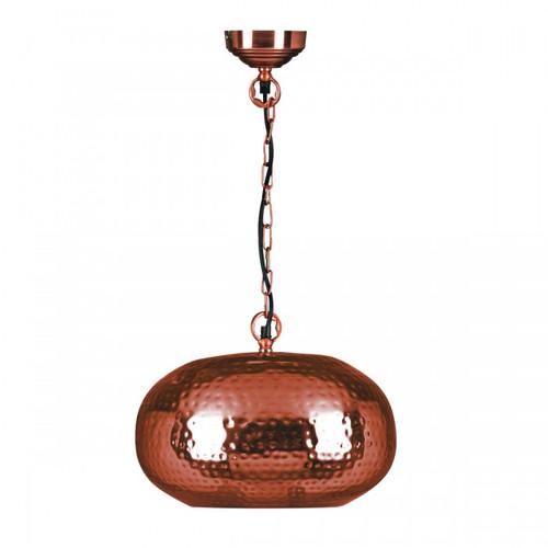 Adra Orb Copper Moroccan Metal Pendant Light