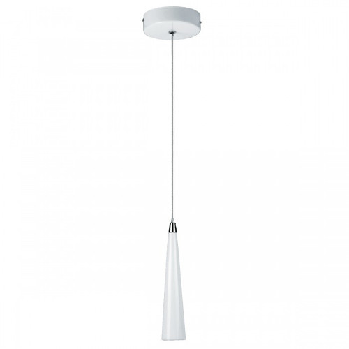 Slimline Cone White LED Pendant Light