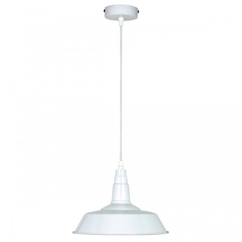Industry White Metal Pendant Light - Small
