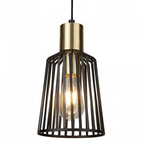 Maven Mini Black Brass Vintage Pendant Light