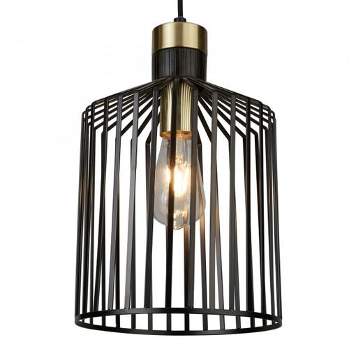 Maven Midi Black Brass Vintage Pendant Light