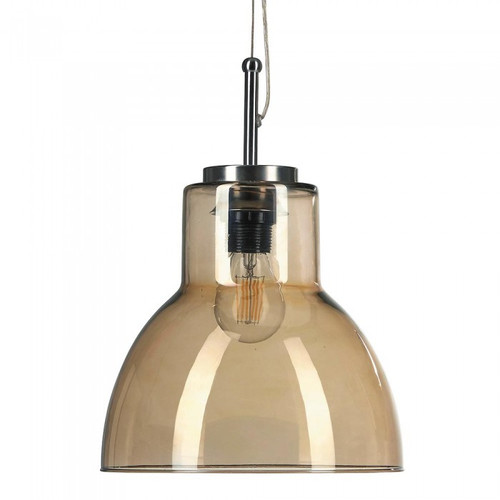 Lolita Spanish Bell Smoke Glass Pendant Light
