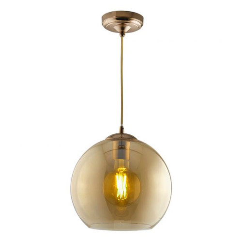 Classic Round Amber Glass Pendant Light