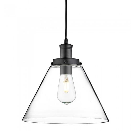Clifford Cone Black Glass Pendant Light