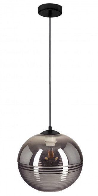 Mida Round Smoke Glass Pendant Light