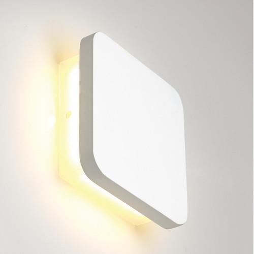 Square White Plaster LED Wall Light