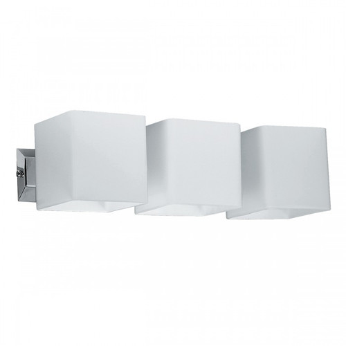 Cube 3 Light Chrome White Wall light
