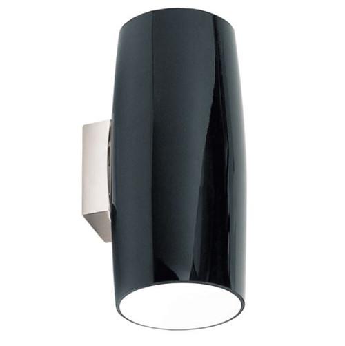 Grand Gloss Black Minimalist Wall Light - large