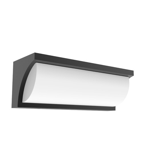 Riga Rectangle Dark Grey Exterior LED Wall Light