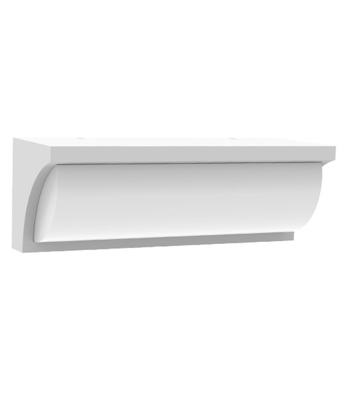 Riga Rectangle White Exterior LED Wall Light